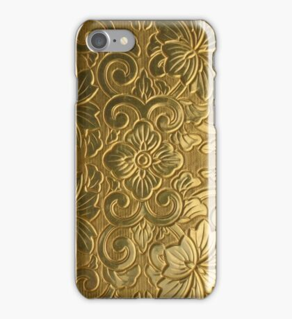 Golden Tile Pattern iPhone Case/Skin