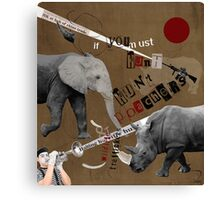 Hunt Wildlife Poachers Concept Art Canvas Print