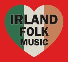 Irland folk music heart Baby Tee