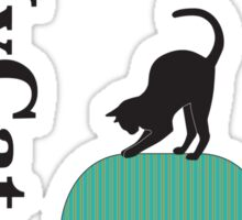 Cat on a turquoise armchair 2 Sticker