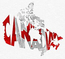 Canada Typographic Map Flag by A. TW