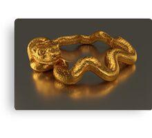 Golden Snake Ring Canvas Print