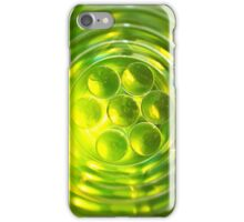 bright green abstract geometric design iPhone Case/Skin