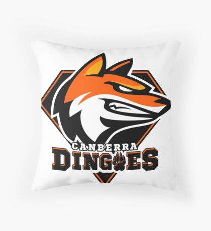 Canberra Dingoes Ice Hockey Team Throw Pillow