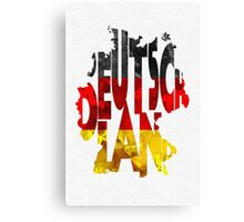 Germany Typographic Map Flag Canvas Print