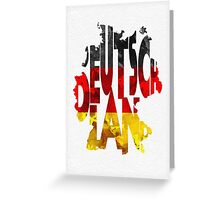 Germany Typographic Map Flag Greeting Card