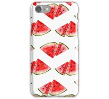 Watercolor watermelon illustration iPhone Case/Skin