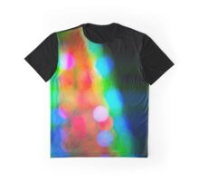 Abstract blurred background in a shape of christmas tree Graphic T-Shirt