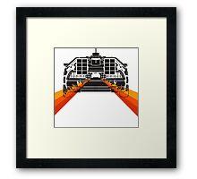 DELOREAN DMC-12 - 88MPH Framed Print