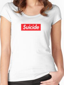 Suicide (SUICIDEBOYS Supreme) Women's Fitted Scoop T-Shirt
