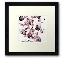 falling petals of pink flowers Framed Print
