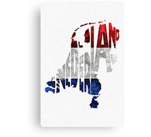 The Netherlands Typographic Map Flag Canvas Print