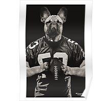 Chop american football black Poster