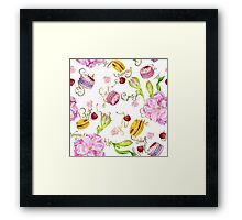 sweets and pink flowers roses Framed Print