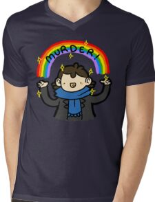 ~MURDER~ Mens V-Neck T-Shirt