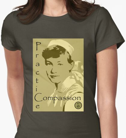 Practice Compassion Womens Fitted T-Shirt
