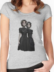 They are coming - the deadly Halloween twins Women's Fitted Scoop T-Shirt