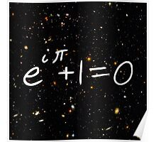 Euler Identity Hubble Deep Field Galaxies Poster