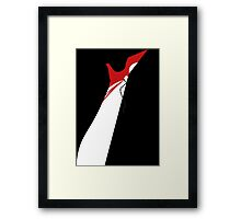 The Red Lady - Leg Framed Print