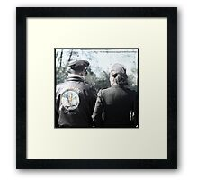 His Wing Mate  Framed Print