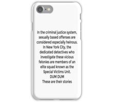 TV Collection - SVU iPhone Case/Skin