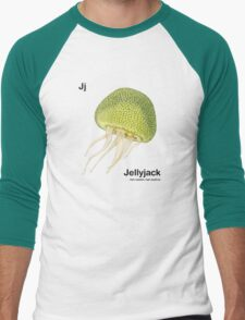 Jj - Jellyfruit // Half Jellyfish, Half Jackfruit Men's Baseball ¾ T-Shirt