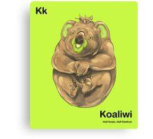 Kk - Koaliwi // Half Koala, Half Kiwifruit Canvas Print