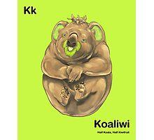 Kk - Koaliwi // Half Koala, Half Kiwifruit Photographic Print