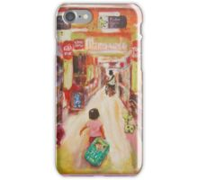 Cute Little Girl at Shopping Mall Whimsical Fine Art Painting iPhone Case/Skin