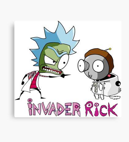 invader rick Canvas Print