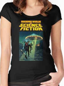 Unknown Worlds of Science Fiction Women's Fitted Scoop T-Shirt
