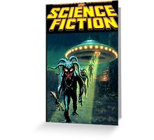 Unknown Worlds of Science Fiction Greeting Card