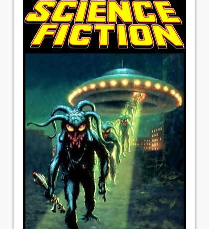 Unknown Worlds of Science Fiction Sticker