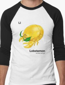 Ll - Lobstemon // Half Lobster, Half Lemon Men's Baseball ¾ T-Shirt