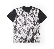 Halloween, Dantes Inferno, spooky pattern, skeleton, skulls 3 Graphic T-Shirt
