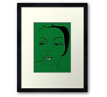 Die Ikone in Grün - The Icon in Green Framed Print