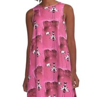 UNVEILING THE BENEATH -PINK A-Line Dress