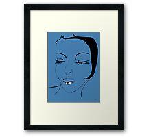 Die Ikone in Blau- The Icon in Blue Framed Print
