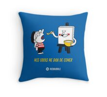 Mis obras me dan de comer - Primary v2 Throw Pillow