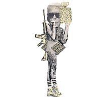 Graffiti Warrior Photographic Print