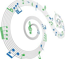 Music Notes Swirl Design by missdarrian