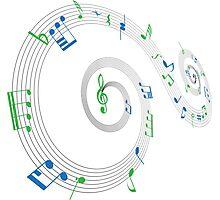 Music Notes Swirl Design Photographic Print