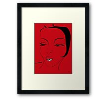 Die Ikone in Rot - The Icon in Red Framed Print