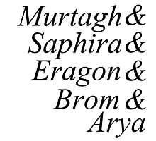 Eragon names Photographic Print
