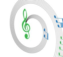 Music Notes Swirl Design Sticker