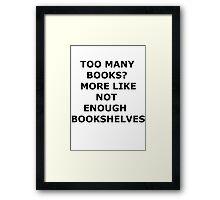 bookaholic Framed Print