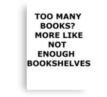 bookaholic Canvas Print