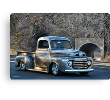 1950 Ford F100 Custom Pickup 'In Process' Canvas Print