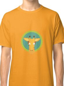 Giraffe head with green circle Classic T-Shirt