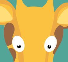 Giraffe head with green circle Sticker